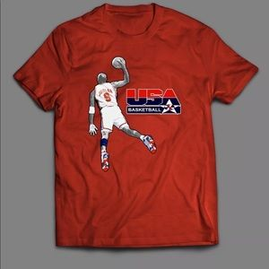 USA DREAM TEAM MICHAEL JORDAN CUSTOM QUALITY SHIRT